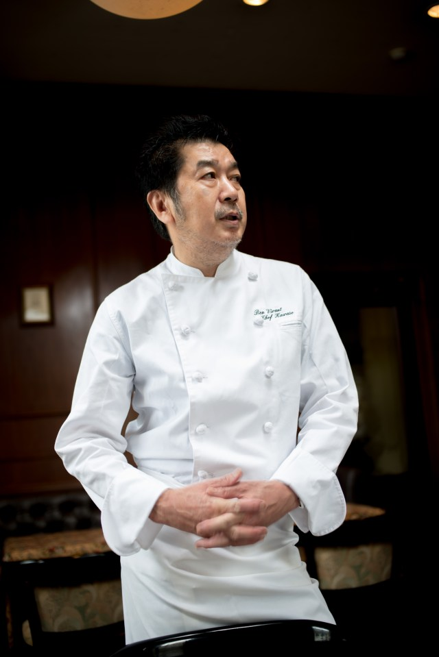 "Kawase Takeshi, the owner and chef, says ""Chances only come once, seize them!"""